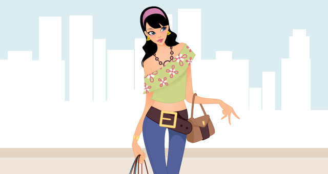 Fashion Shopping Girls Vector Art Free Design 4 All