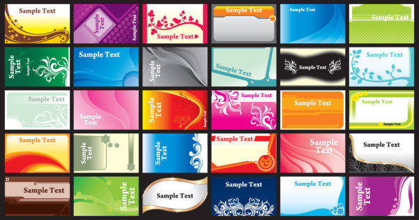 Identity free design 4 all brilliant color business card template vectors 1 fbccfo Image collections